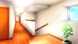 2階の廊下の背景イラスト