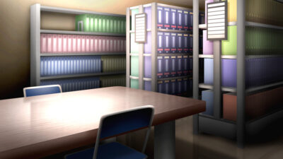 資料室の背景イラスト