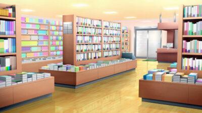 書店の背景イラスト