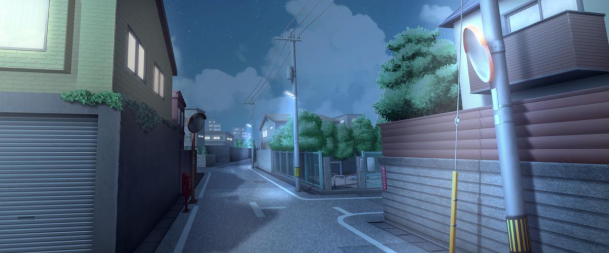 residential street at night
