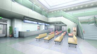 病院のロビーの背景イラストのフリー素材