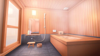 和モダンな浴室