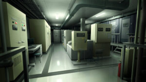 機械室の背景イラストのフリー素材