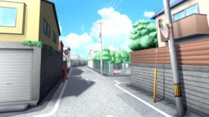 住宅街の背景イラストのフリー素材
