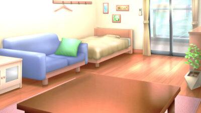 一人部屋の背景イラスト