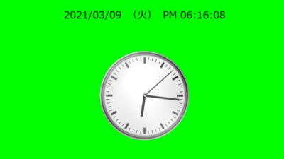 現時刻を表示する時計